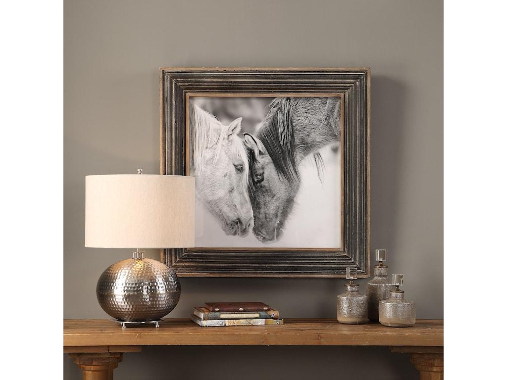 Uttermost Framed PrintsCustom Black And White Horses Print