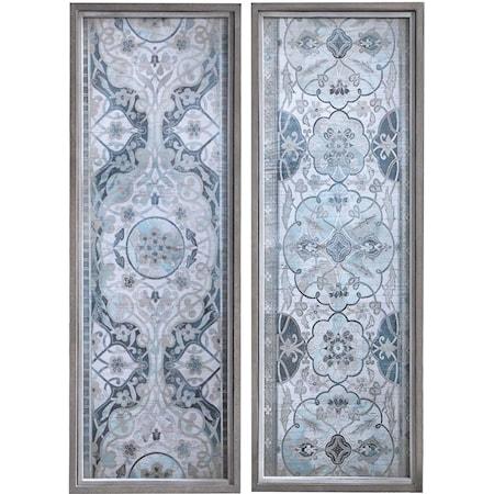 Vintage Persian Panels Framed Prints, Set/2