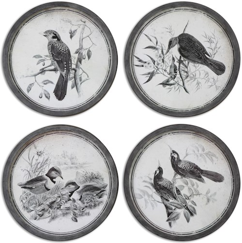Uttermost Art Birds In Nature Framed Art, S/4