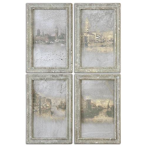 Uttermost Art Antique Venetian Views, Set of 4