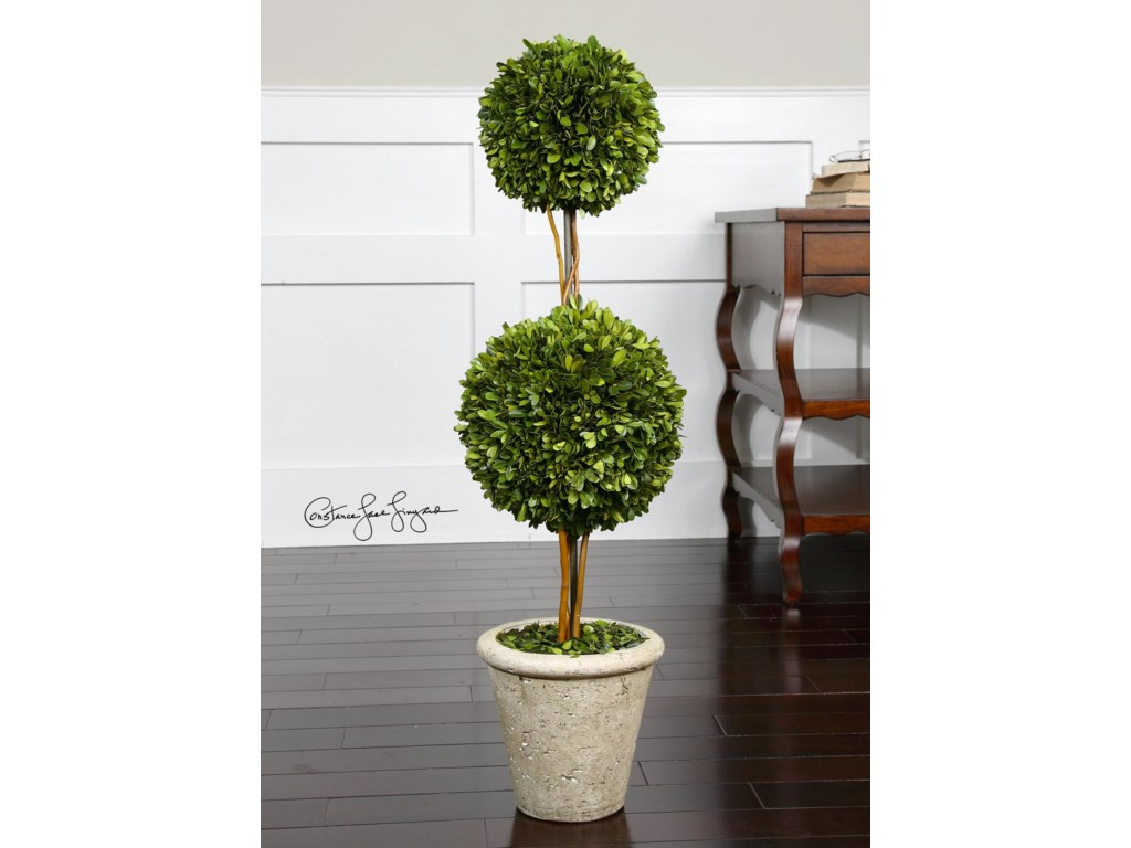 Uttermost BotanicalsPreserved Boxwood Two Sphere Topiary