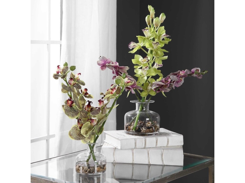 Uttermost BotanicalsMalin Orchid Bud Vases, Set/2