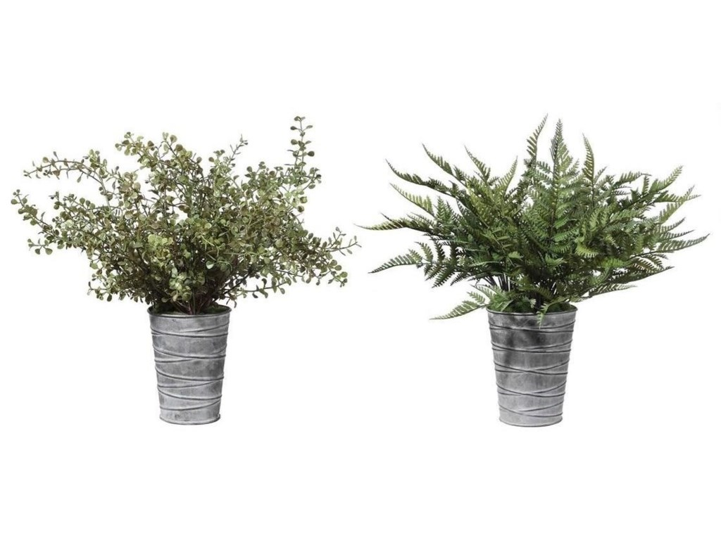 Uttermost BotanicalsQuimby Potted Ferns Set/2
