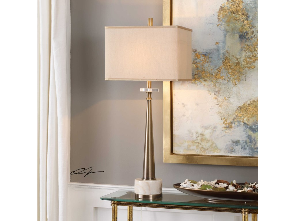 Uttermost Buffet LampsVerner Tapered Brass Table Lamp