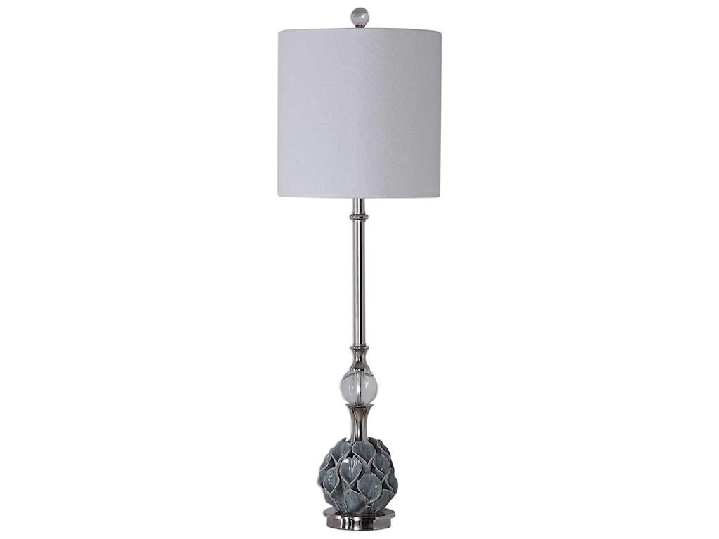 Uttermost Buffet LampsElody Blue Gray Buffet Lamp