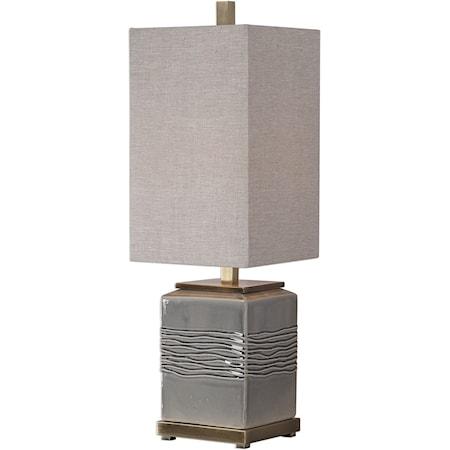 Covey Gray Glaze Buffet Lamp