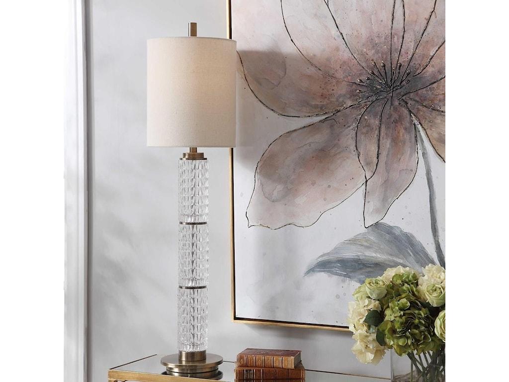 Uttermost Buffet LampsVionnet Glass Buffet Lamp