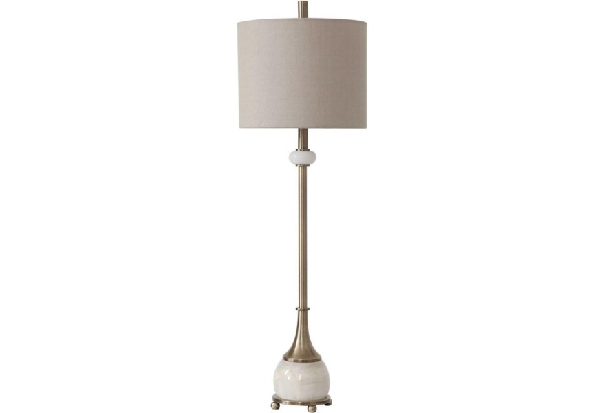 Buffet Lamps Natania Plated Br Lamp By Uttermost At Dunk Bright Furniture