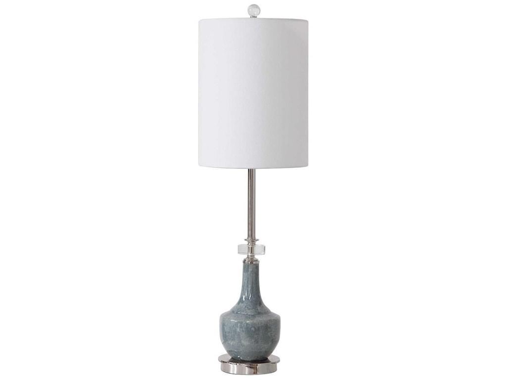 Uttermost Buffet LampsPiers Mottled Blue Buffet Lamp