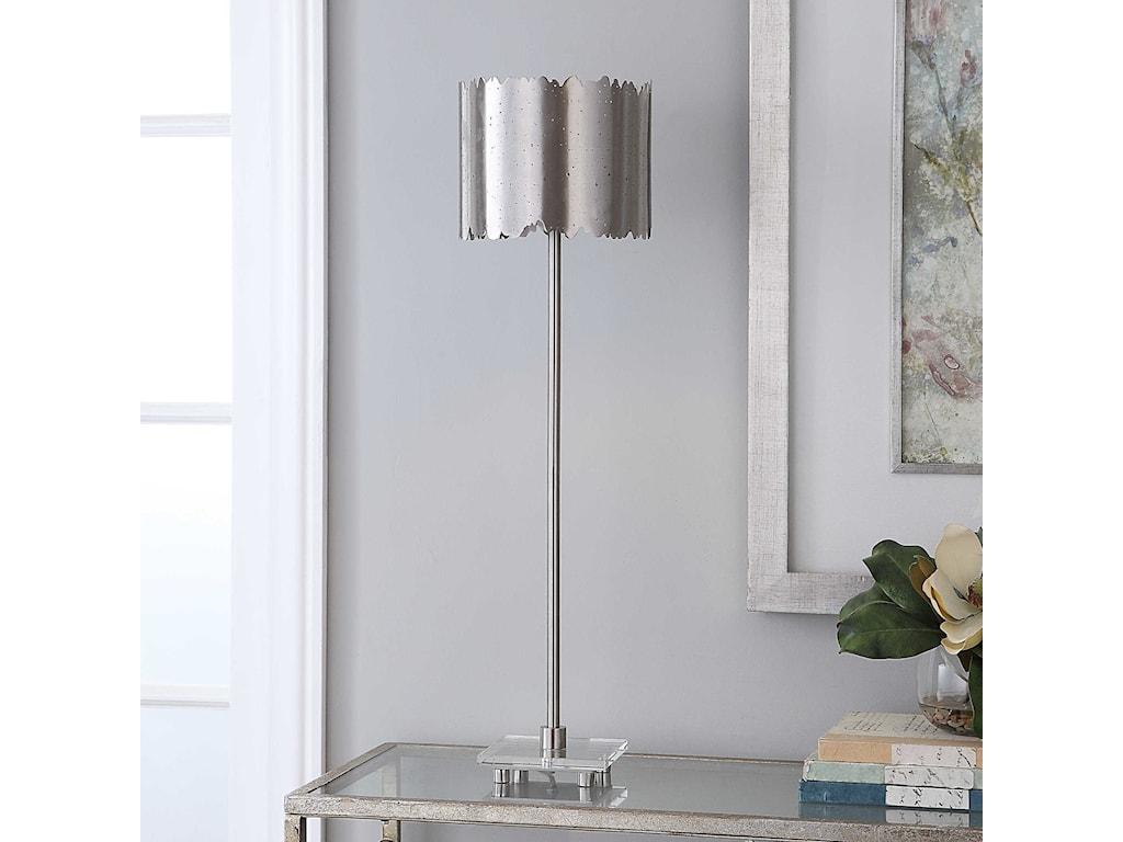 Uttermost Buffet LampsBaradla Nickel Buffet Lamp