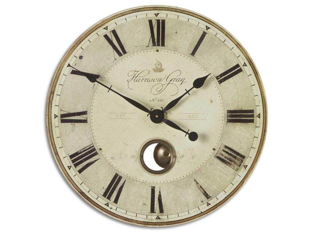 125aa6d29346 Uttermost Clocks 06032 Harrison Gray 23