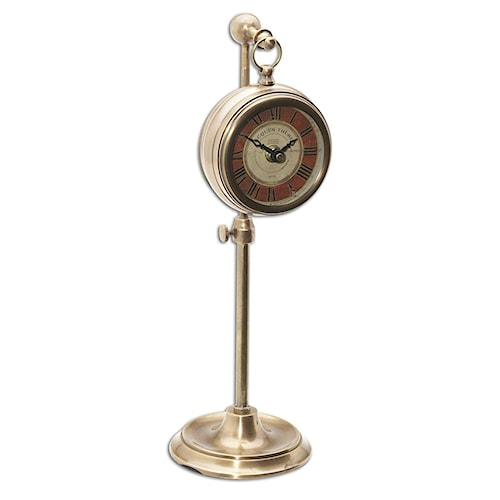 Uttermost Clocks Pocket Watch Brass Thuret Clock