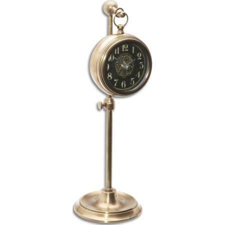 Pocket Watch Brass Woodburn Clock
