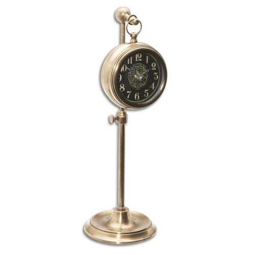 Uttermost Clocks Pocket Watch Brass Woodburn Clock
