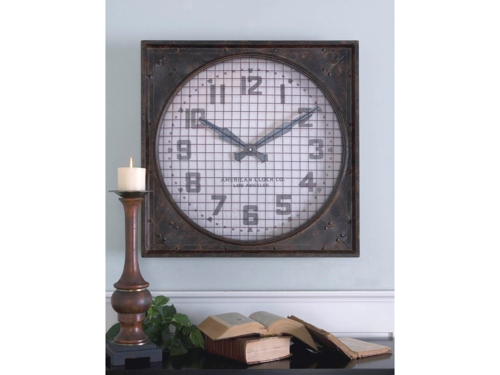 Uttermost ClocksWarehouse Clock with Grill
