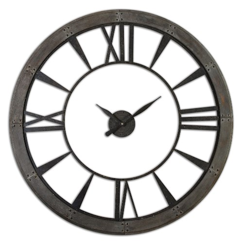 Uttermost Clocks Ronan Wall Clock, Large