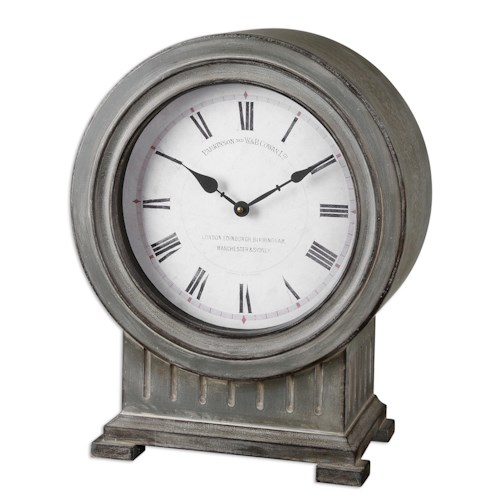 Uttermost Clocks Chouteau Mantel Clock