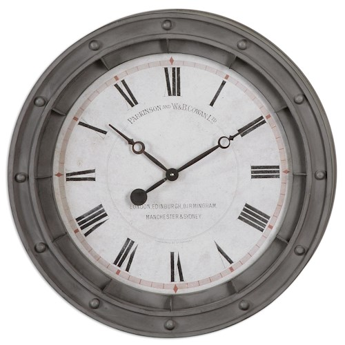 Uttermost Clocks Porthole Wall Clock