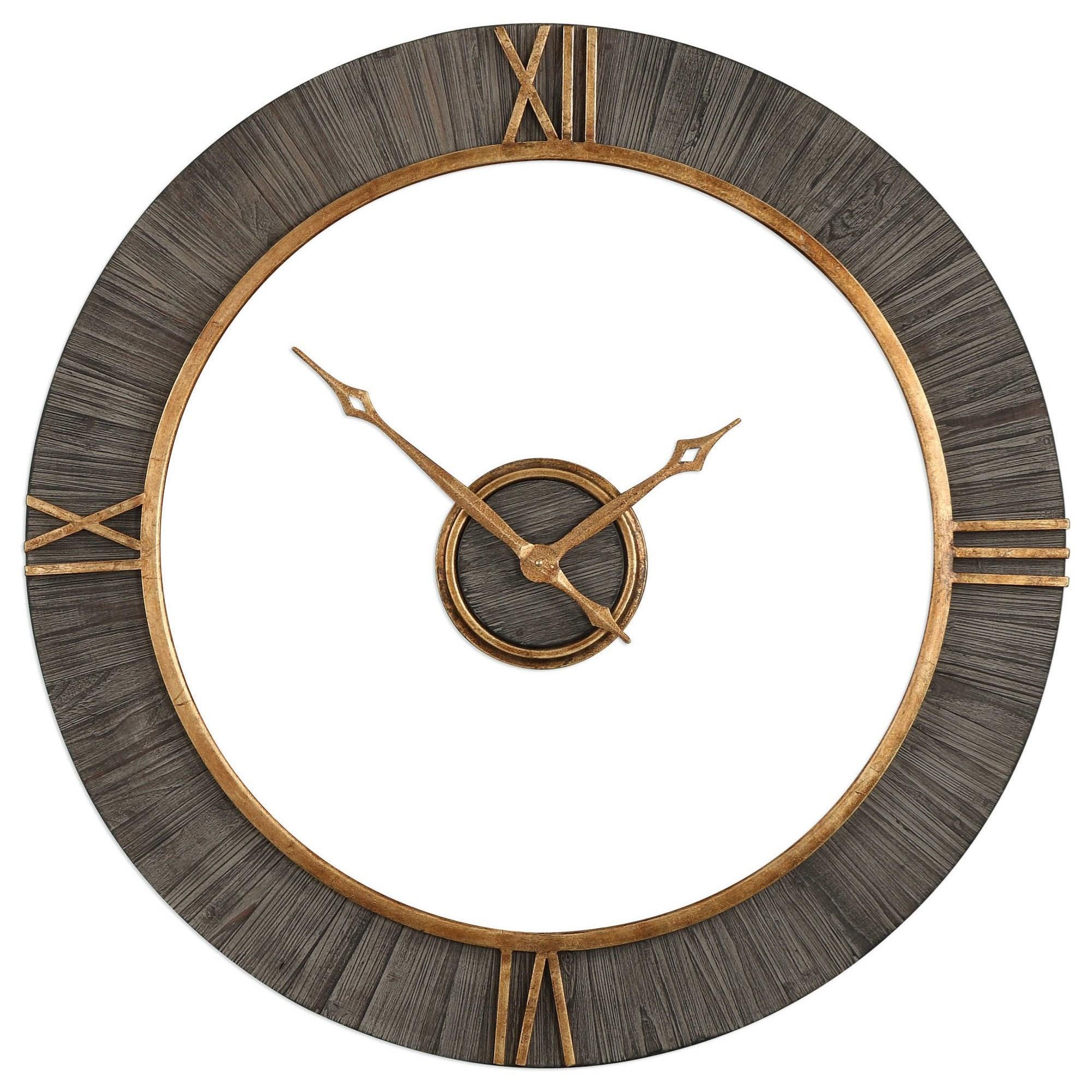 uttermost clocks alphonzo modern wall clock dunk u0026 bright furniture wall clocks