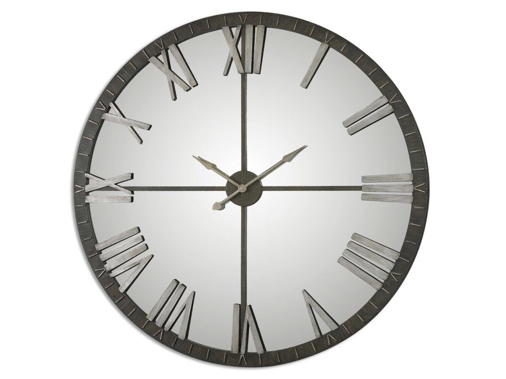 Clocks Amelie Large Bronze Wall Clock By Uttermost At Rotmans