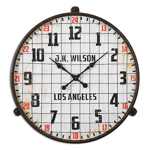 Uttermost Clocks Max Aged Wall Clock