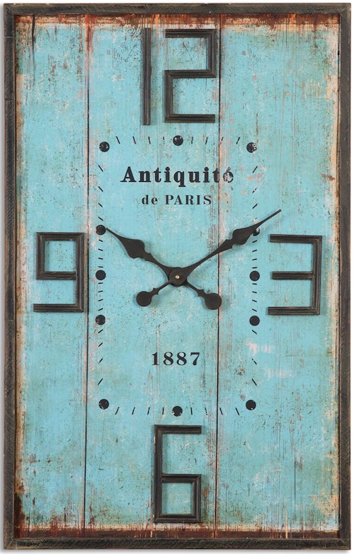 Uttermost Clocks Antiquite Distressed Wall Clock