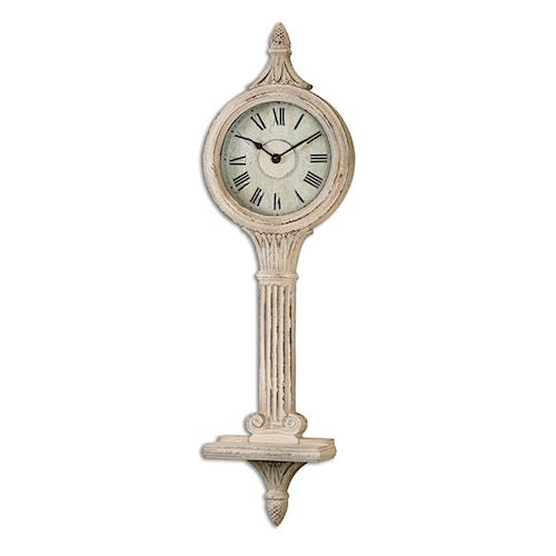 Uttermost Clocks Louisa Antiqued Ivory Wall Clocks