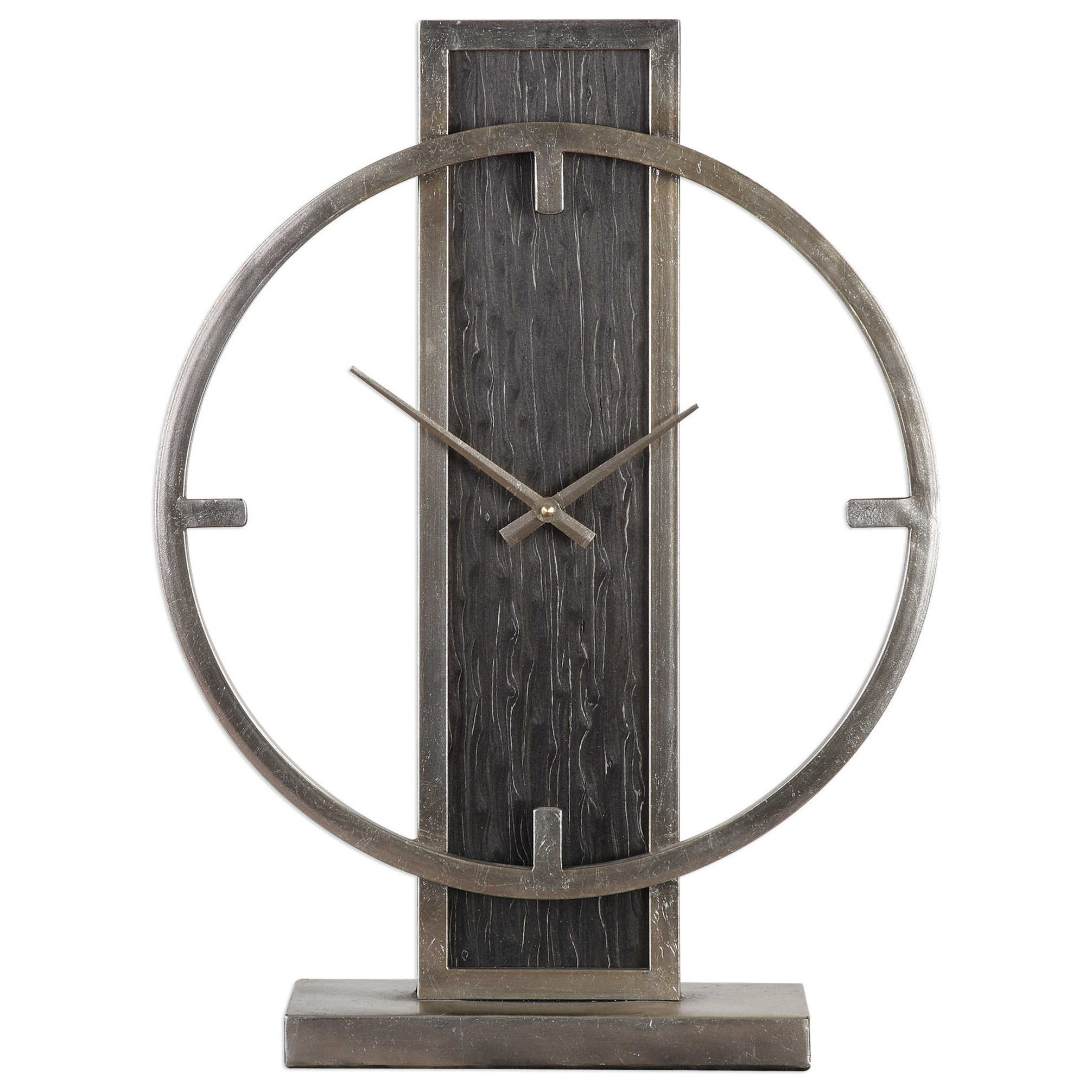 Uttermost Clocks Nico Modern Desk Clock Wayside Furniture Table Clocks Mantel Clocks