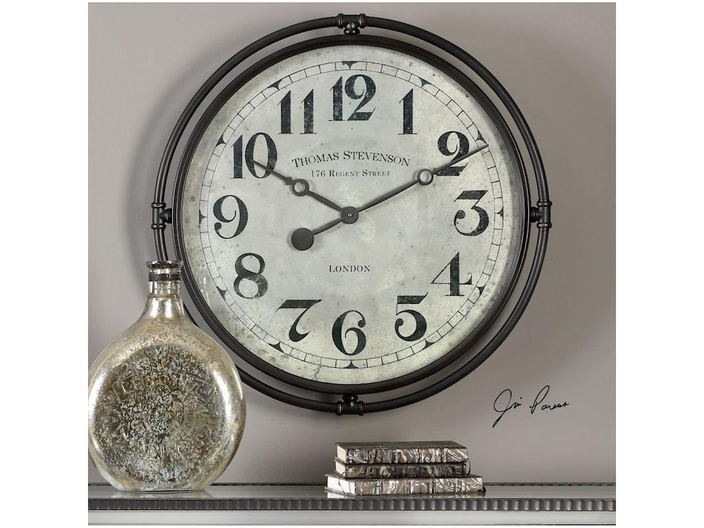 Uttermost ClocksUttermost Nakul Industrial Wall Clock