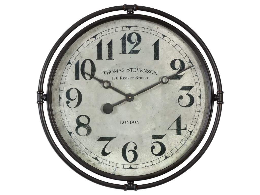 Uttermost clocksuttermost nakul industrial wall clock
