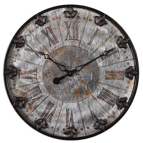 Uttermost Clocks Artemis Antique Wall Clock