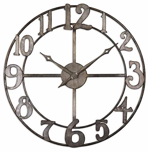 Uttermost Clocks Delevan Clock