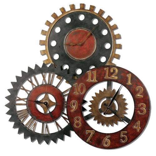 Uttermost Clocks Rusty Movements Clock