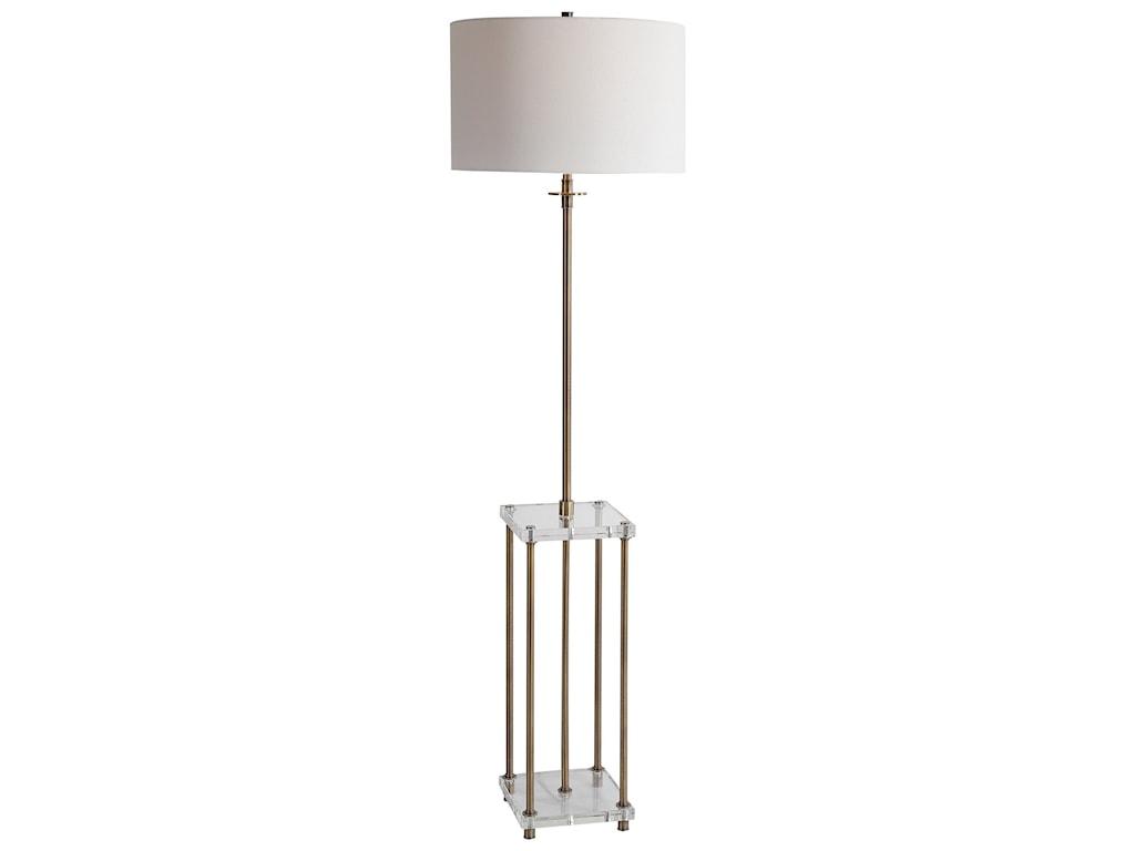 Uttermost Floor LampsPalladian Antique Brass Floor Lamp