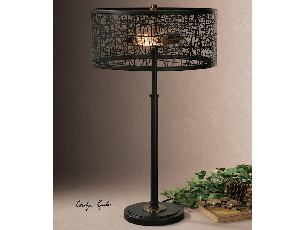 Uttermost Table LampsAlita Black Drum Shade Lamp