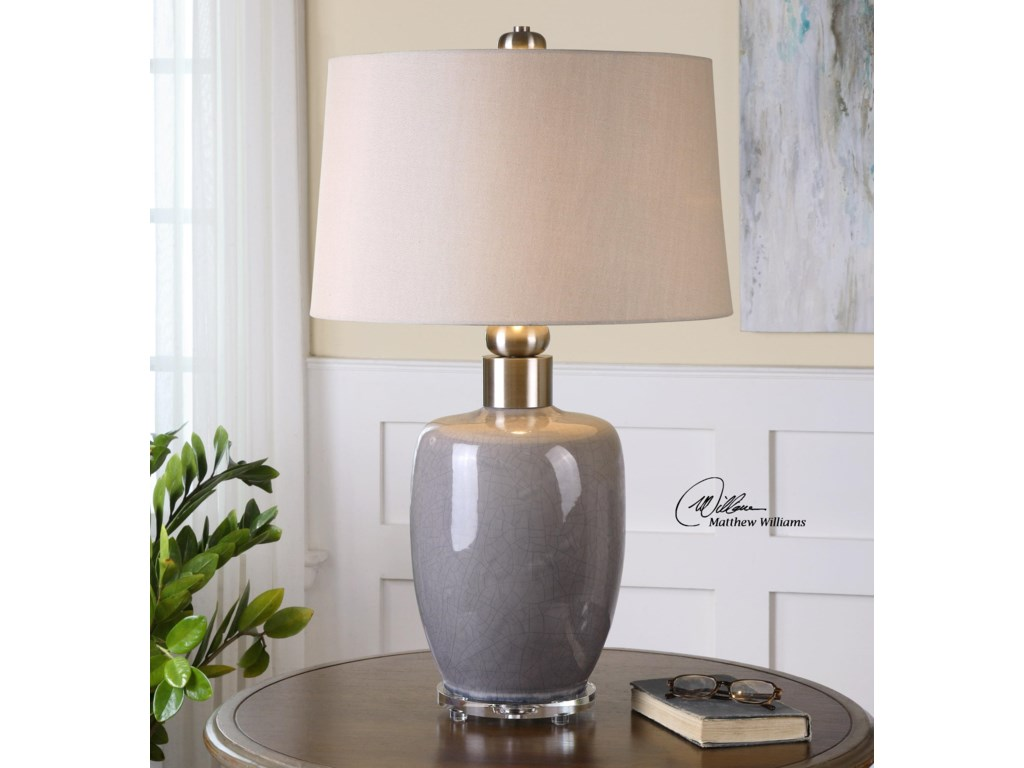 Uttermost Table LampsOvidius Gray Glaze Lamp