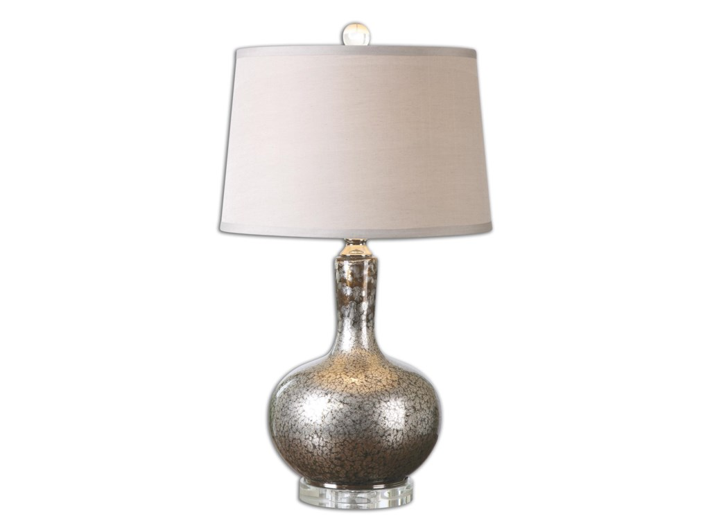 Uttermost Table LampsAemilius Gray Glass Table Lamp