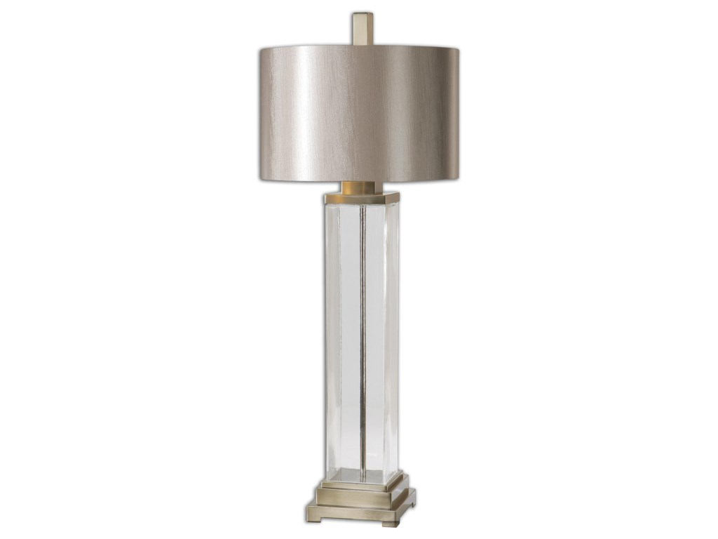 Uttermost Table LampsDrustan Clear Glass Table Lamp