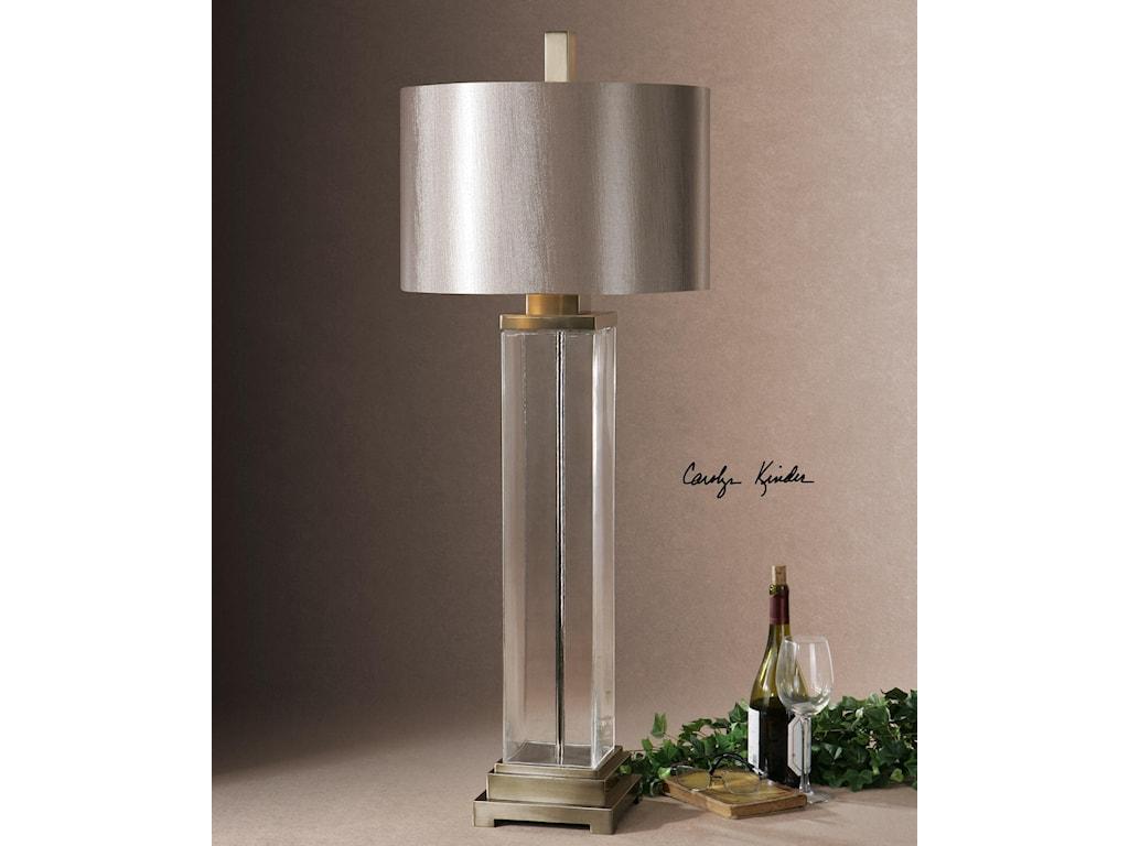 Uttermost Table LampsDrustan Clear Glass Table Lamp
