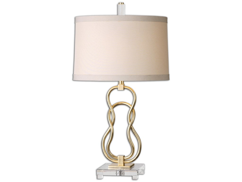 Uttermost Table LampsAdelais Curved Metal Lamp