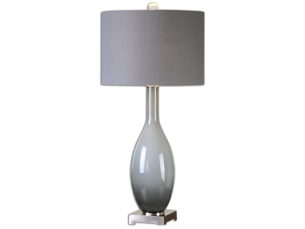Uttermost Table LampsVallo Smoke Gray Glass Lamp