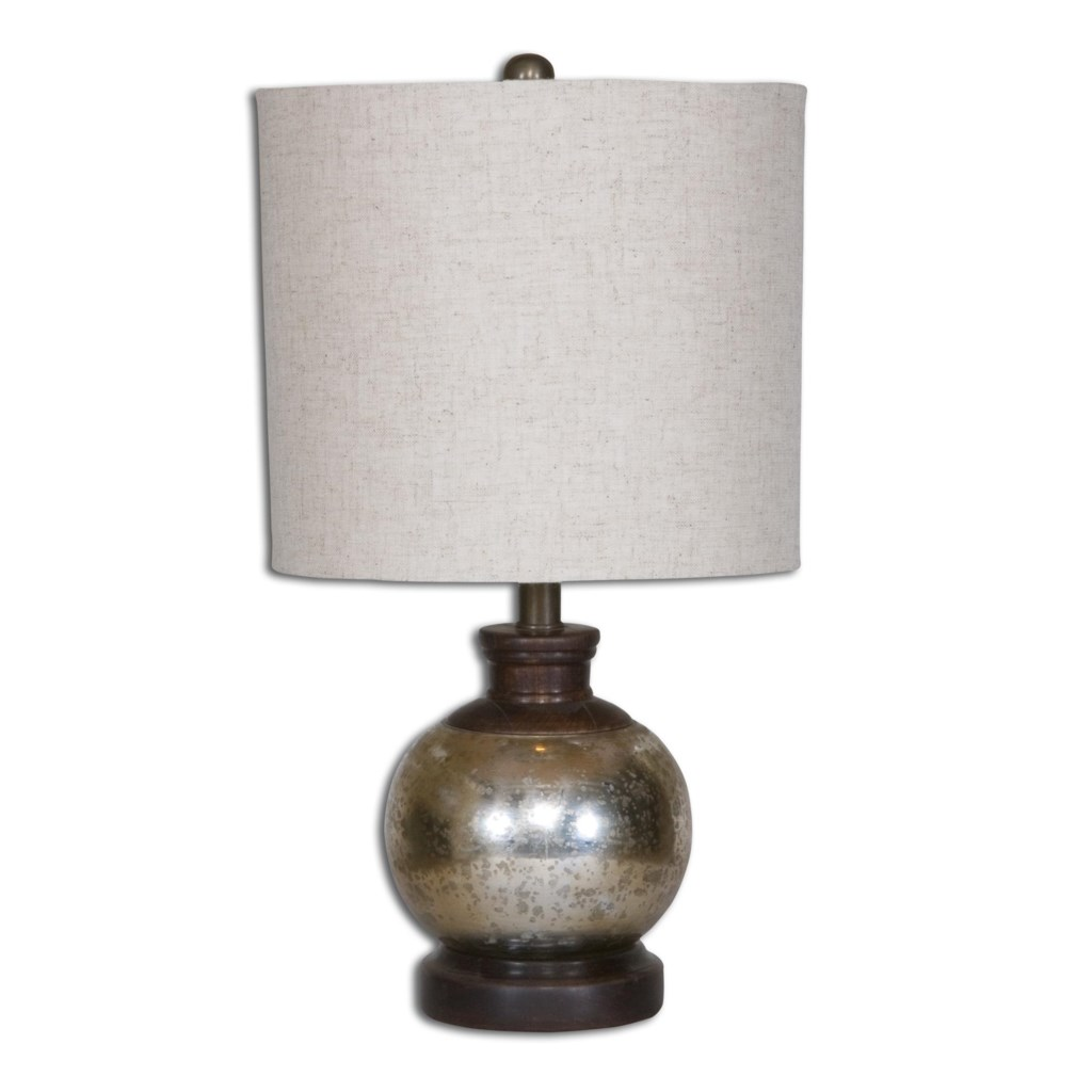 Uttermost Table Lamps Arago Antique Glass Table Lamp Miskelly