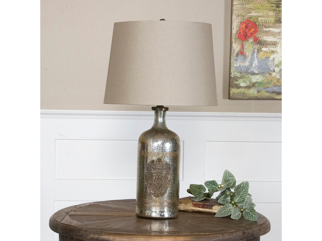 Uttermost Table LampsBorel Antique Glass Table Lamp