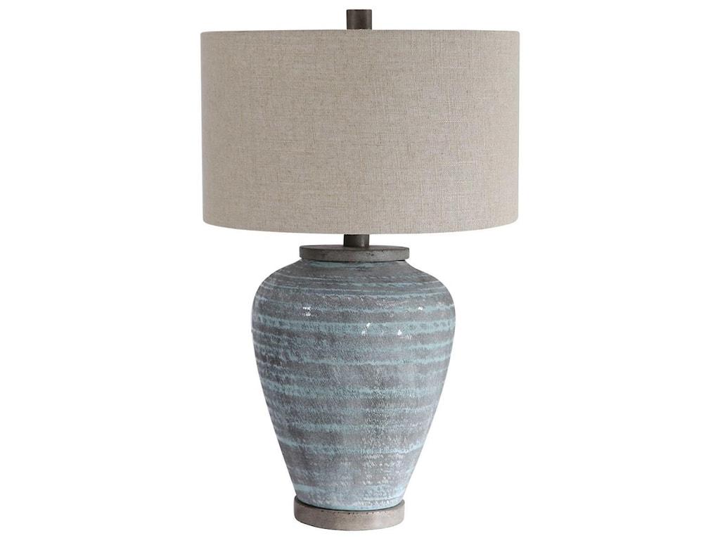 Uttermost Table LampsPelia Light Aqua Table Lamp