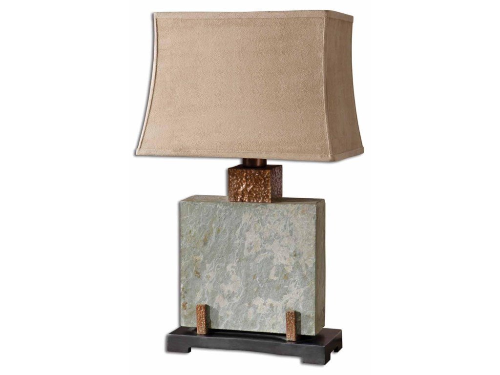 Uttermost Table LampsSlate Square Table