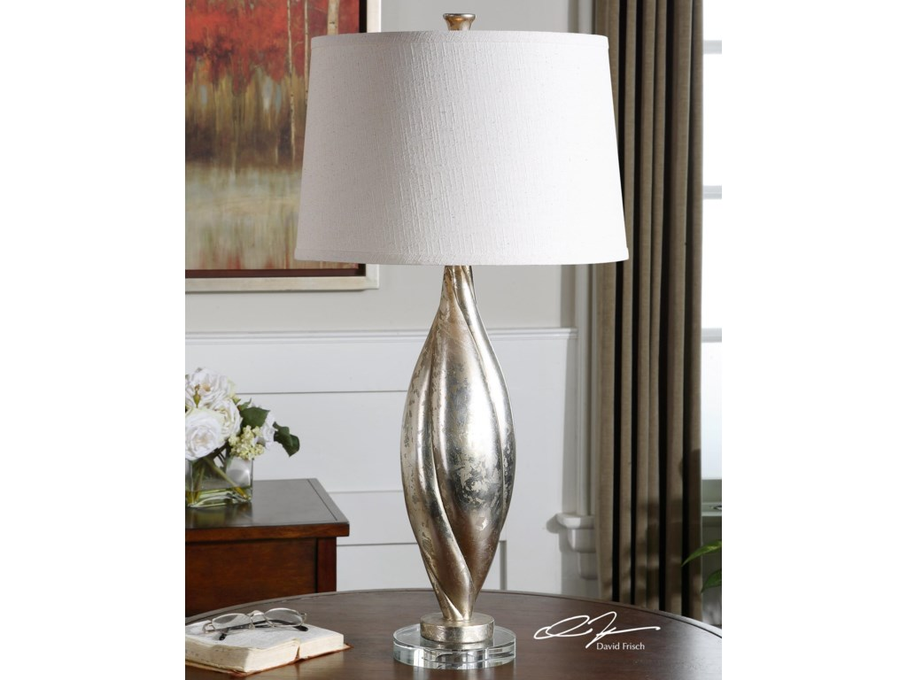 Uttermost Table LampsPalouse Champagne Leaf Lamp