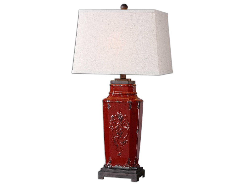 Uttermost Table LampsCentralia Red Lamp