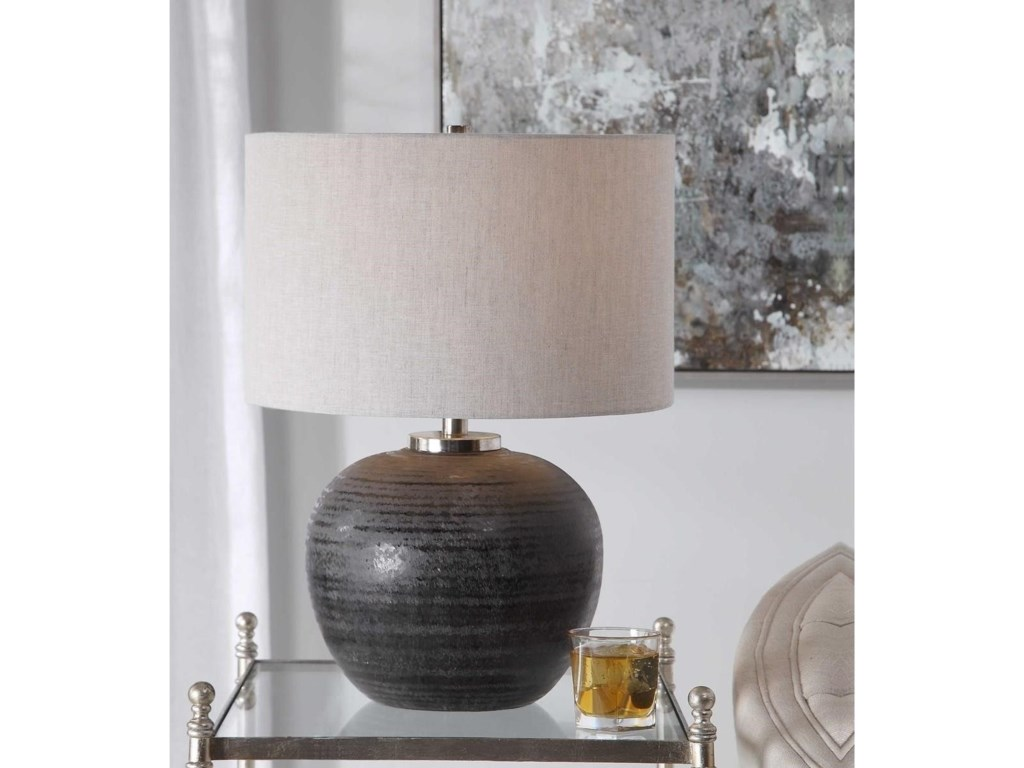 Uttermost Table LampsMikkel Charcoal Table Lamp