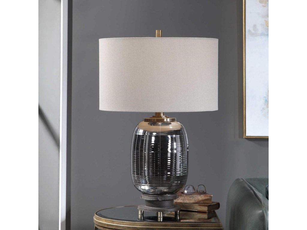 Uttermost Table LampsCaswell Amber Glass Table Lamp