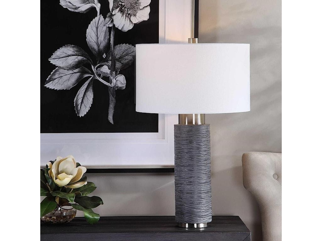 Uttermost Table LampsStrathmore Stone Gray Table Lamp